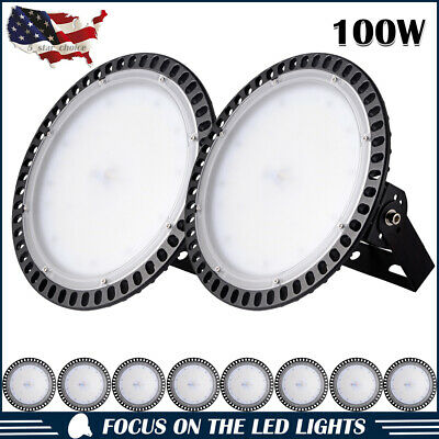 10X 100W UFO LED High Bay Light Industrial Factory Warehouse Shed Lighting 6000K