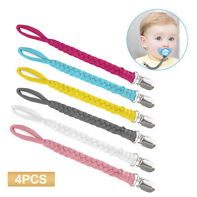 Baby Pacifier Holder Newborn Boys Girl Dummy Soother Leash Strap Clip Chain