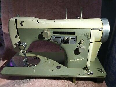 1955 Necchi Bu Supernova Sewing Machine Heavy Duty Leather and Upholstery