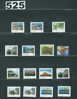 Canada. Small collection of  uncancelled  stamps Lot# 525