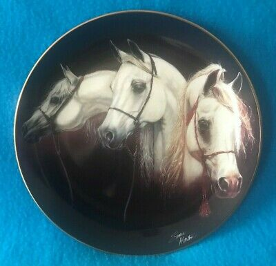 Magnificent Trio Horse Plate by Susie Morton Nobel and Free Series