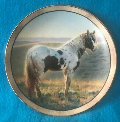First Light Horse Collector Plate by Nancy Glazier Wild and Free Series