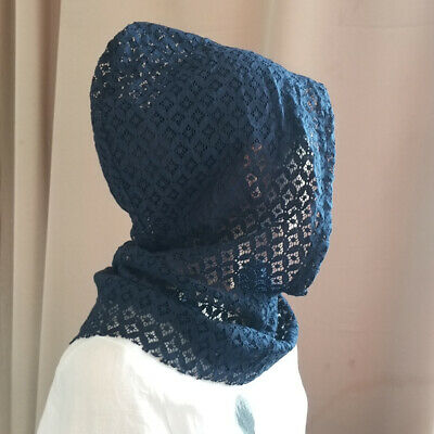 Women Floral Lace Hat Lace Hooded Collar Detachable Dickey Collar with Hood Hat