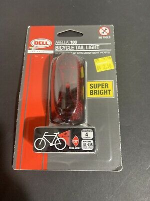 New* Bell ARELLA 100 Bike//Bicycle Tail LightRed//Super Bright Lot# EB12