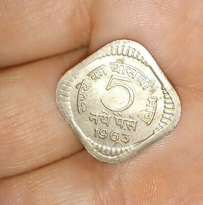 1963 India 5 Paise Coin