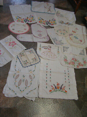 16 Vintage Dresser Scarves* Table Runners- Hand Crocheted