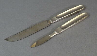 Antique WWI Medical Surgical Tools Instruments 2 Amputation Knifes Set all Metal