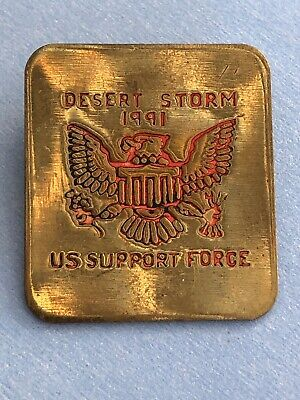 "1991 Desert Storm US Support Force - Support Our Troops 1""  Lapel Hat Pin"