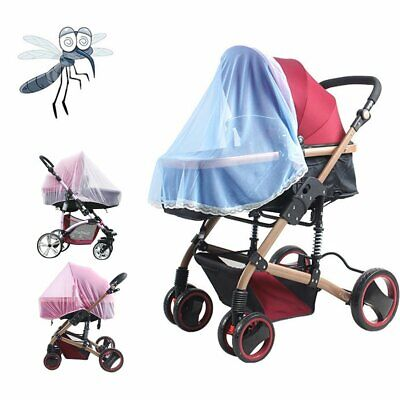 Stroller Pushchair Pram Mosquito Fly Insect Net Mesh Buggy Cover For Baby DR