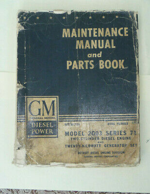 Gmc Model2003 Series 71 Diesel Maintenance And Parts List,Military,Army