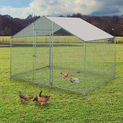Chicken Run 2M X 3M Walk In Pet Cage Coop For Dog Rabbit Hen Cage Pen Metal Door