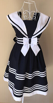 Navy Bonnie Jean Dress Age 12