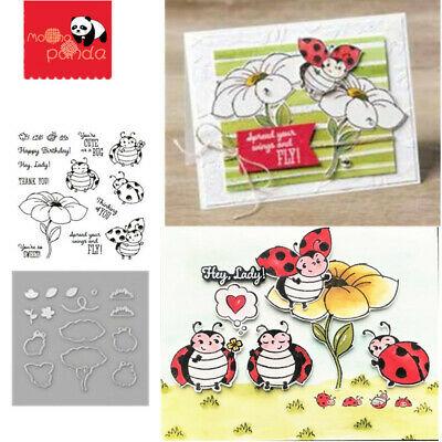 Metal Cutting Dies Little Ladybug Scrapbooking Stamps Stencils DIY Craft Card