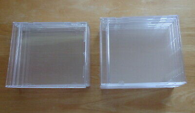 Lot of 9 New, Clear Case CD/DVD Standard-Size, Hard-Plastic NEW From USA