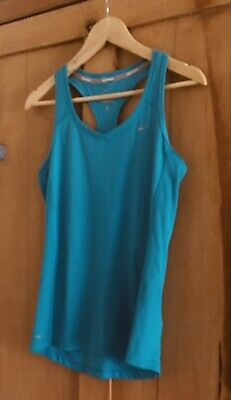 Teal Blue Nike Pro Dri-Fit Gym Fitness Exercise Sports Vest Tank Top Size S