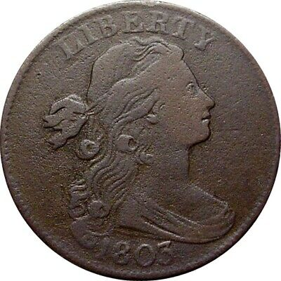 1803 Draped Bust Cent--Very Fine--(S-256, Rarity 3)