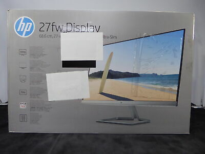 """HP 27fw Full HD 27"""" IPS LCD Monitor White - Currys"""