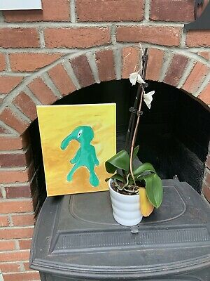 """Squidward Art Painting """" Bold And Brash """" One Of A Kind 11 By 14 Inch"""