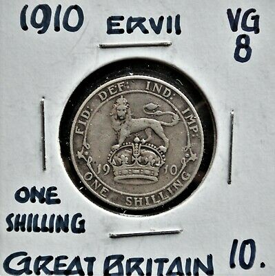 1910 Great Britain Shilling VG-8