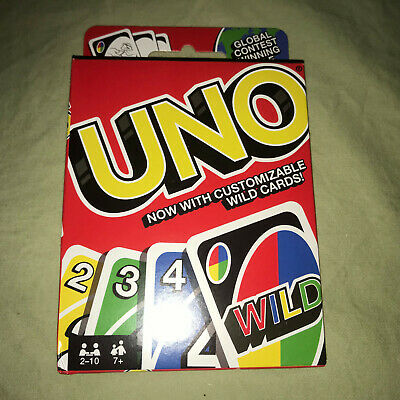 UNO With Customizable Wild Cards NEW Mattel Classic Card Game Games Board
