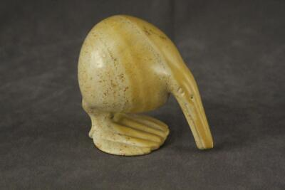 "Vintage Soapstone Artisan Crafted Sea Shore Bird Stone Carving Figurine 3"" Tall"