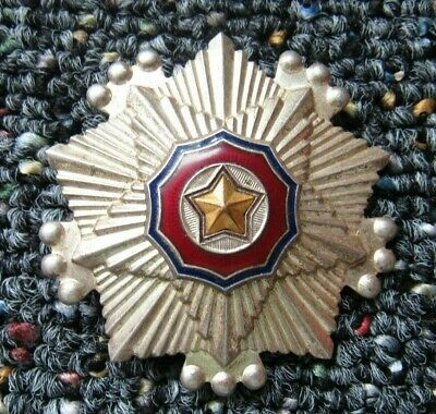 North Korean Order of the National Flag Third Class badge #2