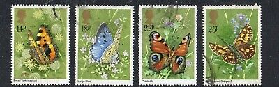 GB Stamps- 1981- Butterflies- SG1151, 1152, 1153, 1154