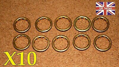 10 BRASS CLOCK FACE / KEYHOLE  GROMMETS FOR 10mm HOLE. FREE POSTAGE. BARGAIN!**!