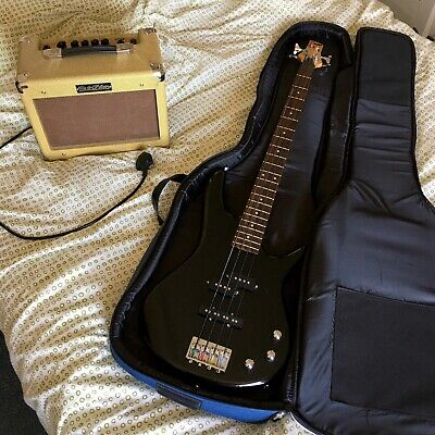 Electric Bass Guitar Bundle With Amp, Case & More
