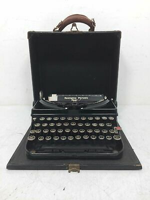 Vintage Made In The USA Remington Portable Model 5 Typewriter With Case