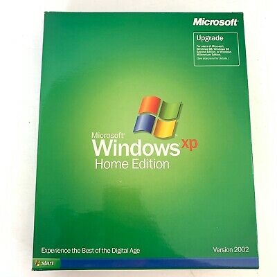 Microsoft Windows XP Home Edition Upgrade Version 2002 CD with Product Key