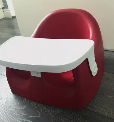 Baby Karibu Red Chair Seat With Detachable Tray Bumbo Style