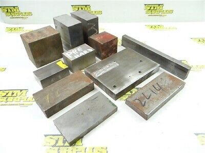 """30Lb Assorted Solid Steel Bar Stock 1/2"""" To 2"""" Thick"""