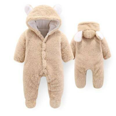 Newborn Baby Infant Boy Girl Romper Hooded Jumpsuit Bodysuit Outfits Clothes YW