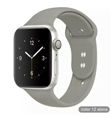 Apple Watch 38mm 40mm Talla SM Series 1 2 3 4 5 Correa silicona Gris Gray