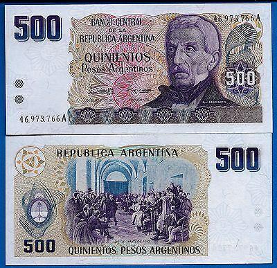 Argentina P-316, 500 Pesos Argentinos Year ND 1986 Uncirculated Banknote
