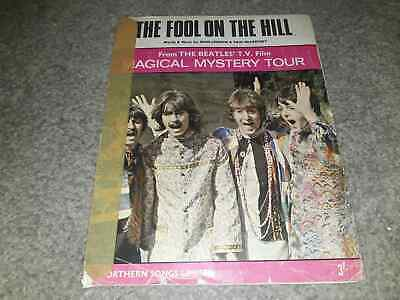 The Beatles - The Fool On The Hill Original Sheet Music 1967 Collectable