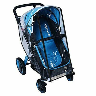 Baby Stroller Rain Cover Weather Shield Accessories Universal (Large|black)