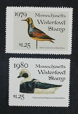 CKStamps: US State Duck Stamps Collection Massachusetts (2) Mint NH