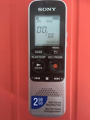SONY ICD-BX112 2GB - Voice Recorder Dictaphone - Tested & Working