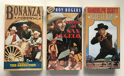 Lot of 3 VHS western movies, all factory sealed- Bonanza- Rage Of Dawn.
