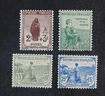CKStamps: France Stamps Collection Scott#B3-B6 Mint H OG