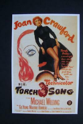"""330) Joan Crawford, Gig Young, MGM's Movie """"Torch Song"""" Un-Posted 1996 Postcard"""