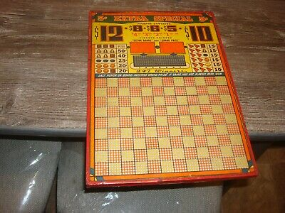 Vintage  Punch Board  5 Cent  Extra  Special Serial  No.  29208  Unused