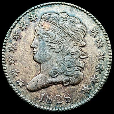 1828 1/2C Classic Head Half Cent~ EF DETAILS ~~CLEANED