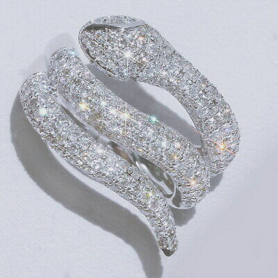 2Ct Natural Diamond 10K White Gold Cluster Ring EFFECT 4Ct RWG222