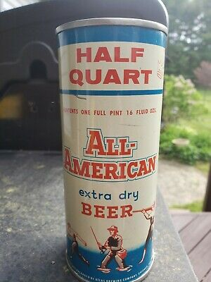 ALL AMERICAN 16oz  Flat Top Beer Can