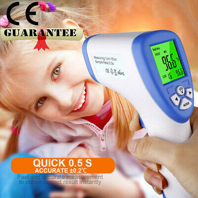 CE IR Infrared Digital Forehead Thermometer Meters LCD Screen Baby Adults
