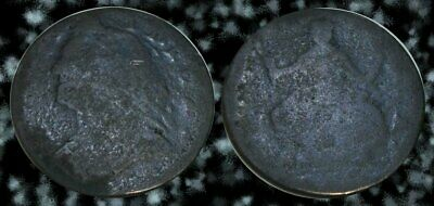 ☆ ODD L@@KING !! ☆ King George II Colonial Copper Coin ☆ STRANGE PORTRAITS !!