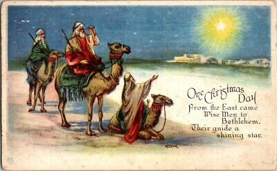 Vintage Postcard One Christmas Day